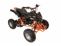 125cc 4 Stroke Quad Bike - (INTERCEPTOR) ORANGE w/ Reverse