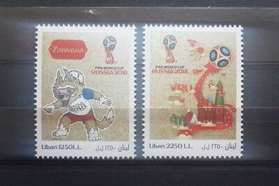 Lebanon 2018 Russia World Cup Mnh Stamp Set Football
