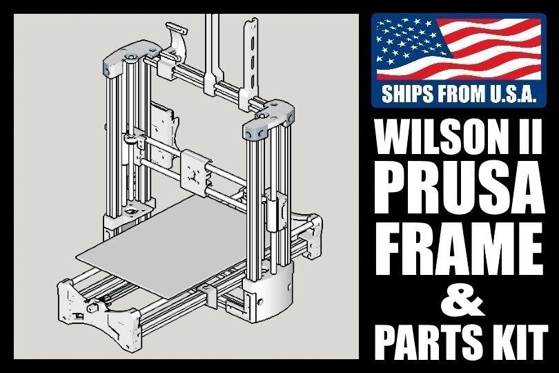Wilson 2 Prusa Mechanical Parts, DIY 3D Printer Kit, 2020 extrusion/10mm shafts