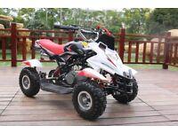 Hawkmoto 50cc Dirt Ninja Mini Off-Road Petrol Quad Bike - Red
