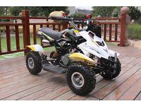 Hawkmoto 50cc Dirt Ninja Mini Off-Road Petrol Quad Bike - Yellow