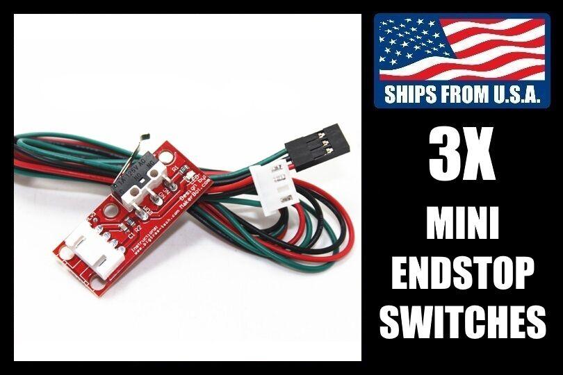 3-Pack Mini Switch Endstops for CNC/3D Printers, RepRap RAMPS 1.4