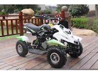 Hawkmoto 50cc Dirt Ninja Mini Off-Road Petrol Quad Bike - Green