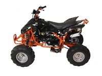 brand new 125cc interceptor quad bike with reverse gear green and orange left £500