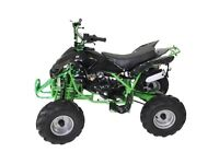 brand new 125cc interceptor quad bike with reverse gear green and orange left £480