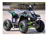 HAWKMOTO ELECTRIC QUAD 800W -3 SPEED UP TO 20 MPH ,SUSPENSION ETC NEW AT KICKSTART BELFAST