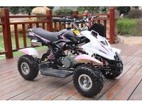 Hawkmoto 50cc Dirt Ninja Mini Off-Road Petrol Quad Bike - Pink