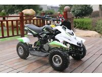 Hawkmoto 50cc Dirt Ninja Mini Off-Road Petrol Quad Bike - Green