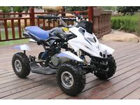 Hawkmoto 50cc Dirt Ninja Mini Off-Road Petrol Quad Bike - Blue