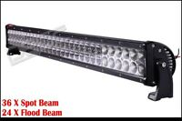 "LED BAR 32"" 34"" 180 WATTS 2 ROW FLOOD SPOT COMBO WORK TRUCK NEW"