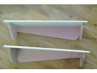 Floating Shelves in Pink and White
