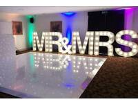 5ft Light up Mr & Mrs love letters for hire Nottingham