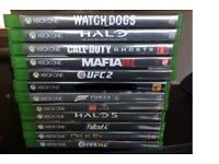 xbox one games £60 for all mint condition are sell seperate