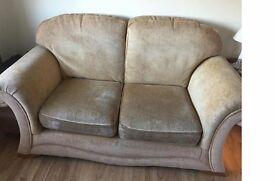 2 person sofa and arm chair for sale.