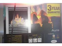 Aura (pebble effect) gas fire.