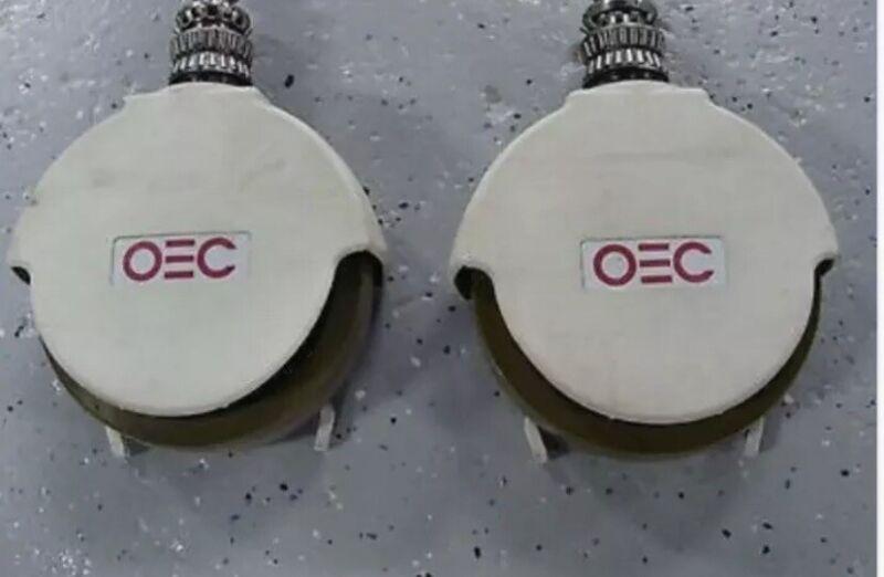 "GE OEC 9600 C-ARM REAR CASTER WHEEL 8"" STEERING ASSEMBLY P/N: 00-879180-01"