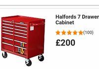Halfords 7 drawer roller toolbox