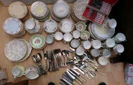 Vintage Crockery And Cutlery