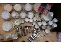 Vintage Crockery And Cutlery