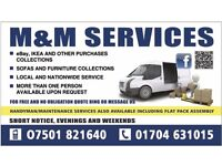 M&M Services, Removals, Man And Van Service, Southport, Ormskirk, Formby