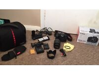 Canon 550D 18-55mm DSLR + Accessories Great Condition