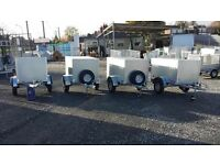 NEW GALVANISED 2 & 3 COMPARTMENT DOG TRAILERS