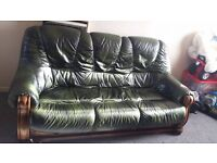 leather sofa 3+1+1 for sale £220