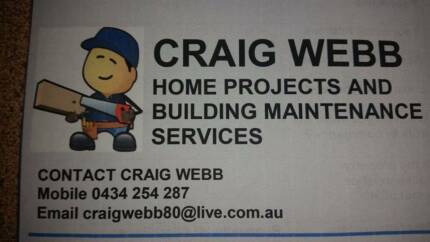Craig Webb Home Projects and Building Maintenance Services