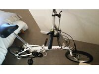 White Folding bike to sale - dont need it anymore - urgent