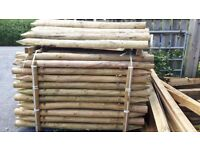 6ft peeled 3-4inch poles