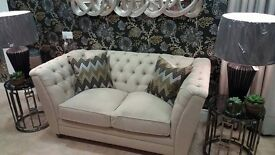 Brand new cream sofa - deep buttoned