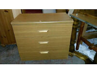 Teak Effect Chest of Drawers