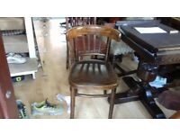 1 chair,solid oak,stool,stable,vintage