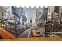 Immaculate set of three, New York design canvases. All three -£10 ONO or individually-£4 ONO