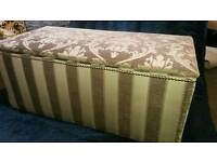 Professionally Recovered Vintage Ottoman