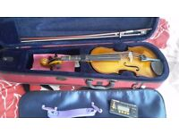 Full Size Stentor 2 Violin with rest and tuner/metranome