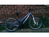 girls mountain bike front suspension to suit 10 - 16 fully serviced today good condition collection