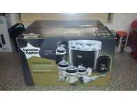 Black Tommee Tippee Electric Steam Steriliser, Black Bottle Warmer & Accessories