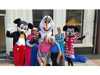 Children Entertainment Character Hire - Princesses, Superhero's, Mascots, Elves..