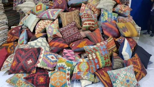 Fonkelnieuw ≥ kelim kussens diverse maten & kleuren kelims tapijt kussen AK-57