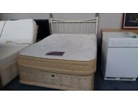 Double divan bed and luxury vono supreme mattress and headboard. Delivery is available if required.