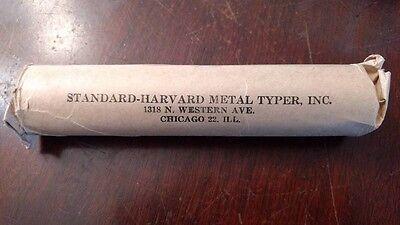Harvard Standard Metal Typer Metal Type Good Luck Clover FLAG Tokens 100 ROLL