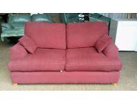 Wine Colour Fabric Sofa Bed