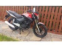 Lexmoto motorbike for sale hardly used