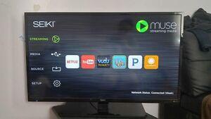 """Like New 40"""" Seiki LED HD Smart TV!"""