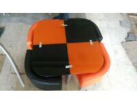 dining table and chairs orange and black BRND NEW