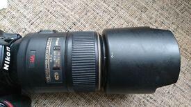 AF-S micro nikkor 105mm 1:2.8G ED Dslr lens.