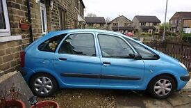 Citroën Picasso x reg 2000 model front electric windows a good runner tested until 16th June 2017