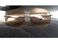 GENUINE DIOR SPLIT SUNGLASSES,worn 3 times,tiny scratches on both lensses but dont affect visibility