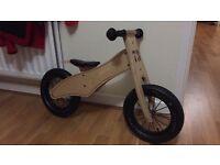 Wooden balance bike Prince Lionheart unused